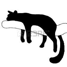 Bildergebnis für silueta de gato acostado