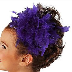 Performance Feather Ballet Dance Flower Headpiece For Kids(More Colors) – USD $ 6.99