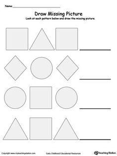 Printable Number Pattern Worksheets Worksheets for all | Download ...