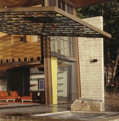Chicken Point Cabin by Tom Kundig, via Behance. great space making the indoor outdoor with pulling raising window wall