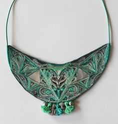 hand made statement necklace by ellester design