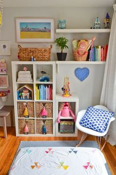 My Little Girls Play Room Helen Dardik Pictures Ikea Expedit Bookshelf With 3 Sprouts Storage