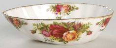Avocado in the Old Country Roses pattern by Royal Albert China