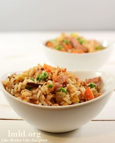 Ham fried rice makes an easy and delicious main dish or side dish #lmldfood