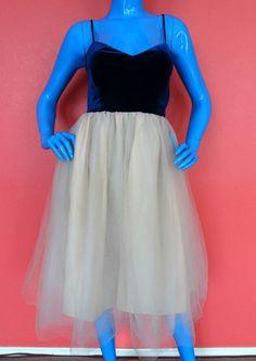 LC Lauren Conrad Runway Tulle Velvet Prom Dress 12 L Formal Organza Folkloric #LaurenConrad #PromFormalCocktailEveningPartyHomecomingQuinceaneraBridesmaid #Formal