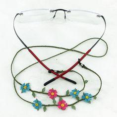 Aguja encaje gafas seda pura correa - cadena de los vidrios - lentes cordón