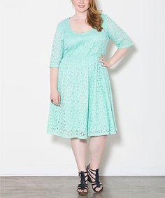 This Seafoam Harlow Dress - Plus is perfect! #zulilyfinds