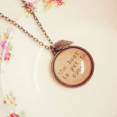 Positive Affirmation Necklace with Handmade
