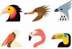 birds, flamingo, pelican, vulture, toucan, hawk, 2percent