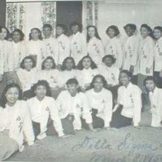Ladies of Delta Sigma Theta sorority, 1950 in Alabama #indacy #sorors #sisterhood #d9 #dst #deltasigmatheta #nphc #deltadivas #1913