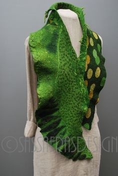 """I love green""  Fiber art by Claudia Burkhardt"