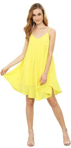 Yellow Summer Spaghetti Strap Sundress Sleeveless Beach Slip Dress - Cute Dresses // http://www.cutedresses.co/product/summer-spaghetti-strap-sundress-sleeveless-beach-slip-dress/
