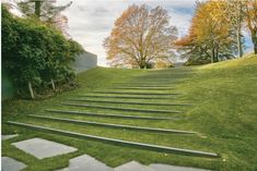 stairs stone pavers path lawn hastings on hudson edmund hollander by Charles Mayer Landscape Architecture Model, Landscape Stairs, Park Landscape, Architecture Graphics, Urban Landscape, Landscape Design, Architecture Courtyard, Landscape Architects, Architecture Plan