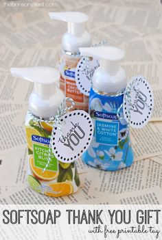Softsoap Printable Thank You Gift - The Benson Street