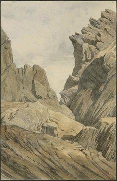 Eugène Viollet-le-Duc, port de Vénasque vu de l'Espagne, 25 août 1833 Aquarelle Ministère de la Culture (France), Médiathèque de l'architecture et du patrimoine, dist. RMN