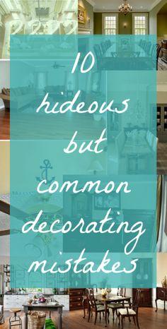 10 Common Interior Design Mistakes