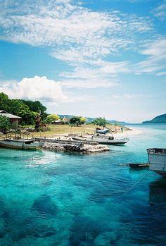 Blue sea and blue sky @ Alor Island, Indonesia