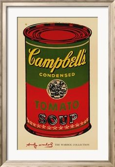 Campbell's Soup Can, 1965 (Green and Red) Print by Andy Warhol -last one of 3 ordered for the kitchen