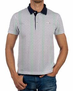 Polo LACOSTE ® Ronald Garros - Blanco | ENVIO GRATIS Polos Lacoste, Polo Shirt, Clothing, Mens Tops, Shirts, Fashion, Clothing Branding, White People, Men