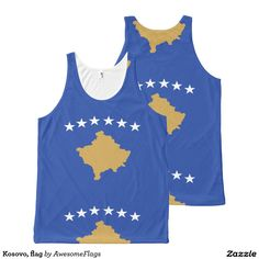 Kosovo, flag All-Over print tank top