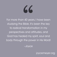 The Bible is your ultimate instruction book, providing answers for every area of your life! Read more from Joyce Meyer. Holy Spirit Come, Joyce Meyer Ministries, Spirit Of Truth, Emotionally Unstable, Understanding The Bible, Comfort Quotes, Peace Of God, Guard Your Heart, Bible Study Journal