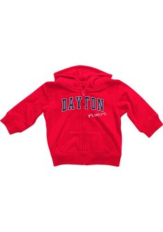 Dayton Flyers Colosseum Baby Red Rally Loud Long Sleeve Full Zip