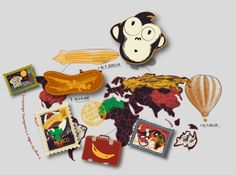 "Colección ""Transatlantic adventure"" #toddlers by nariasat. #baby #prints #travel #stamps #adventure"