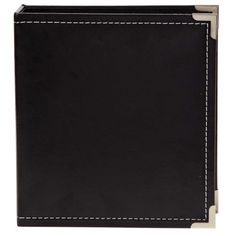 4037 6x8 Black SN@P! Faux Leather Album