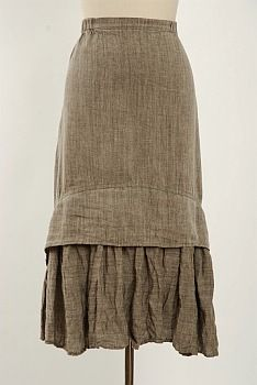 With Boots...  uhhmmm yes, please.   Blanchefleur Skirt by Ivey Abitz  Great hem detailing