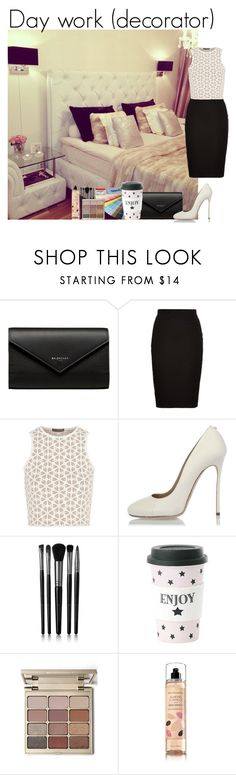 """Day work (decorator)"" by mllestylesusa ❤ liked on Polyvore featuring Balenciaga, Louche, Alexander McQueen, Dsquared2, Illamasqua, Miss Etoile and Stila"