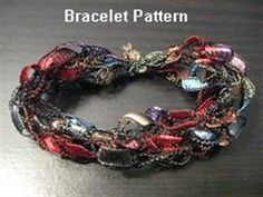 CROCHETED RIBBON NECKLACE   Crochet For Beginners