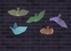 DIY papercraft bats helloween room decor