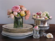vintage chic pretty china roses