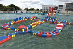 Lymington Sea Water Baths Obstacle Course* computer generated image