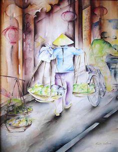 Ruelle du vietnam | da marionconstanceartistepeintre