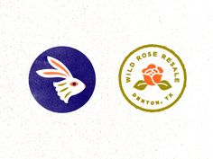 Badge + Icon - Wild Rose by Claire Morales on Dribbble   Lil badge + icon for Wild Rose. I'm having fun taking this in a wild, Texas, witchy, folkloric direction.   branding illustration logo texture typography