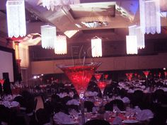 Giant Martini Statement Centerpiece
