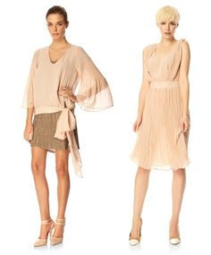 another two cream color dresses