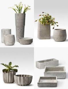 Vasos de concreto para fazer em casa | Passa lá em casa | Gazeta do Povo