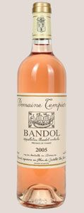 Domaine Tempier Rosé offers aromas and flavors of peach and citrus with hints of pomegranate and spice