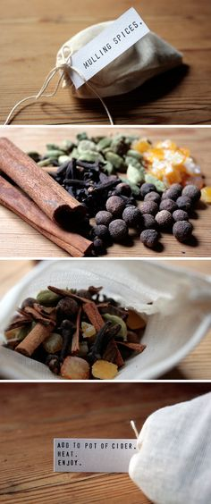 Mulling Spices - Recipe + Step-by-Step for making and packaging.