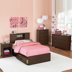 Ameriwood Cherry Finish Bedroom Collection At Big Lots