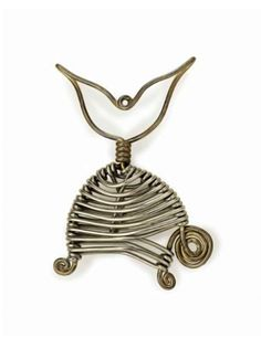 "Pendant | Alexander Calder.  ""Fish"".  Brass and silver wire.  ca. 1929 