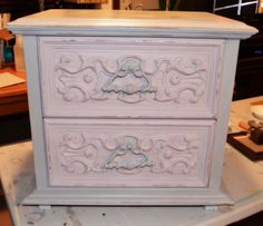 End Table in  Chalk Paint® decorative paint by Annie Sloan.  Paloma by Shab2Fab