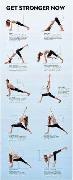 Yoga poses for strength.