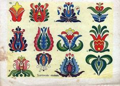 hungarian flower designs these are so retro inspirational. I think I will do some embroidery with these