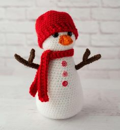 Crochet Stars, Free Crochet, Crochet Patterns Amigurumi, Crochet Dolls, Crochet Snowman, Tsumtsum, I Love This Yarn, Holiday Crochet, Single Crochet Stitch