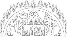 Vorlage Schwibbogen Waldhaus