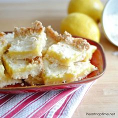 Coconut lemon bars by The Chronicles of Home featured on iheartnaptime.com!