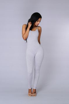 d7303b52a0 Nova Season Jumpsuit - Heather Grey